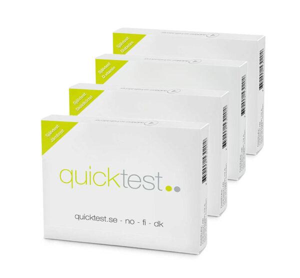 Mellan hälsokollen - Testa järnbrist, sköldkörtel, d-vitamin och diabetes - Självtest från Quicktest